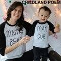 Новая осень семьи сопоставления одежда хлопка с длинными рукавами семья посмотрите мать сын наряды сопоставления семьи мать и сын одежда