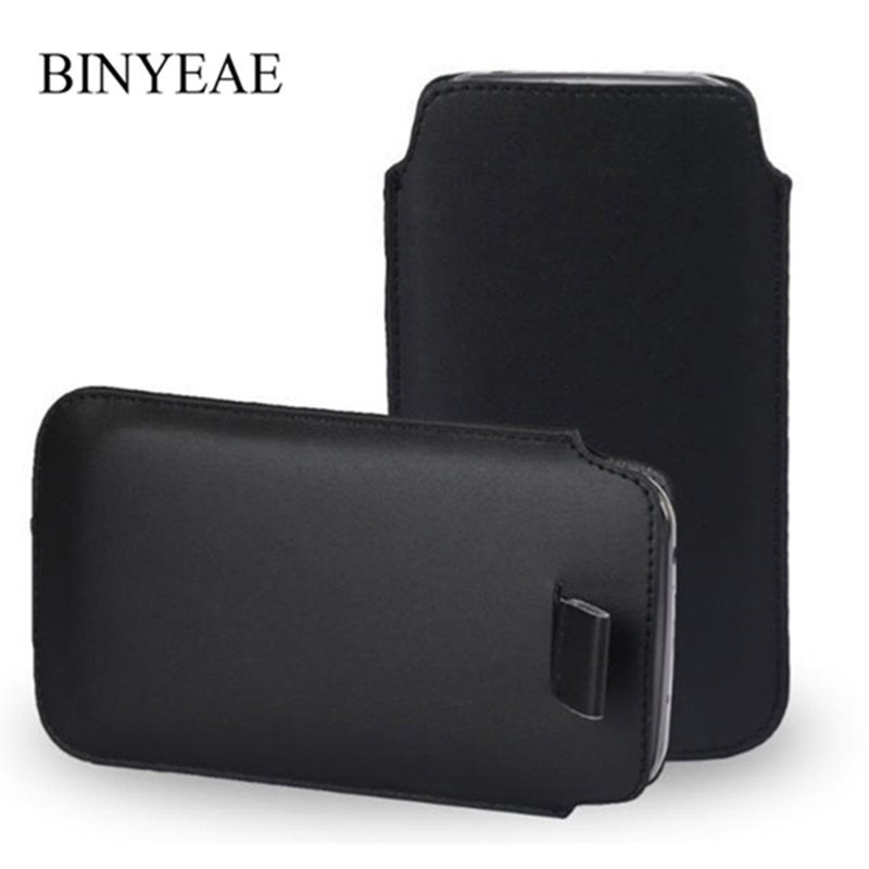 Leather Pouch Coque For Vodafone Smart N9/N9 Lite/E8/N8 Pocket Rope Holster Pull Tab Pouch Cover Accessories Cell Phone Bag Case