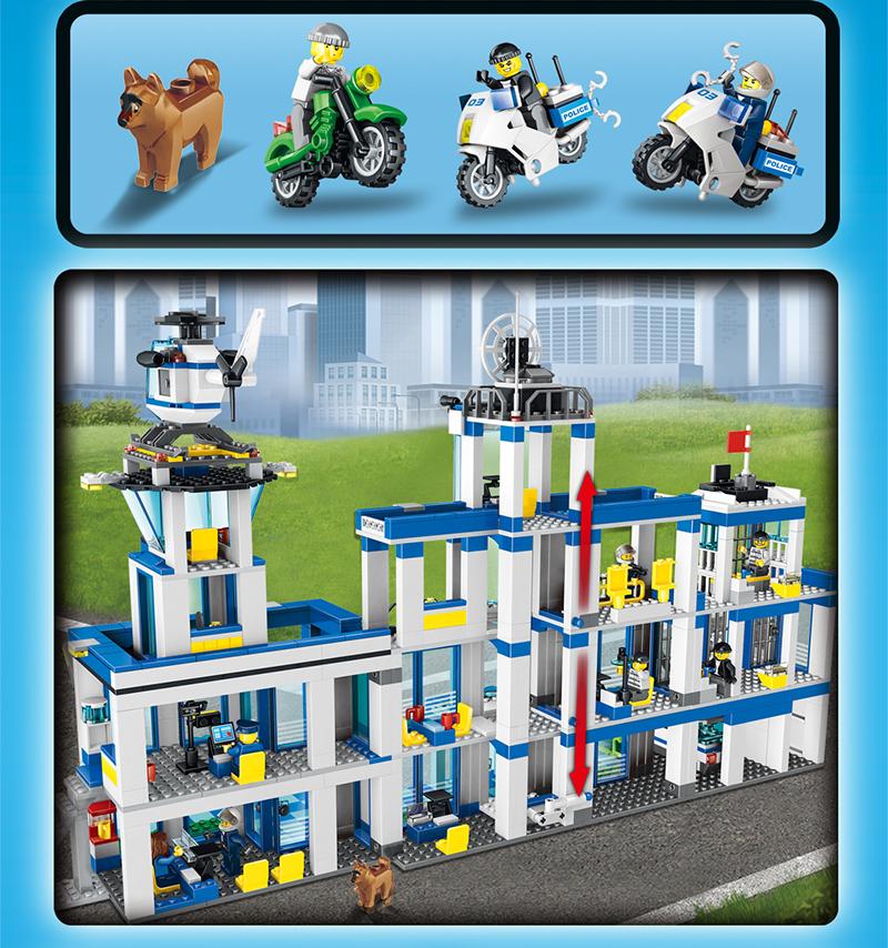 UKLego City Police Station Set Model toy gift.