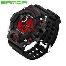 Men Watches Sport Luxury SANDA Brand Men s Military Sports Watches Digital LED Electronic Man Wristwatches