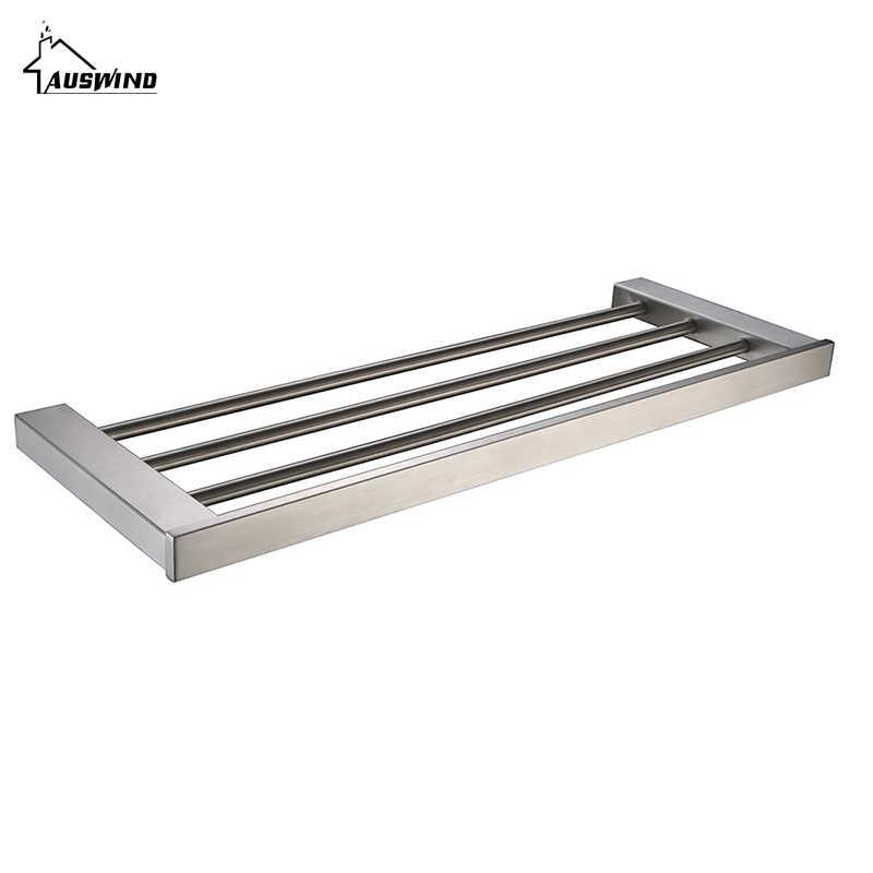 Sus 304 Edelstahl Badezimmer Zubehör Set Aus Gebürstetem Silber Wc Pinsel Halter Handtuch Bar Seife Gerichte Bad Hardware Set