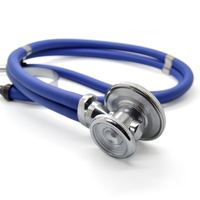 100 Brand New Double Dual Head Functional High Quality Professional Stethoscope Medical Estetoscopio Free Shipping
