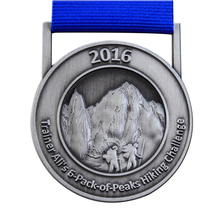 medals  custom antique silver cheap OEM mountaineering competition high quality you own LOGO