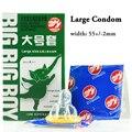 20 unids condones de látex para hombres grandes del condón Placer más ultrafino 55mm xl condona preservativo adultos productos del sexo