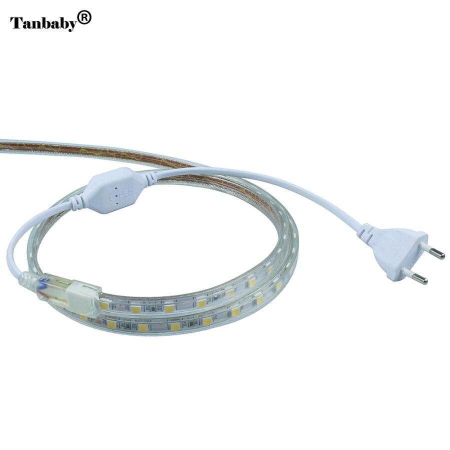 EU Plug Wide Connector For High Voltage 220v 3528 5050 3014 LED Strip Lights Accessory High Voltage HA