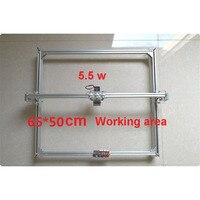 Free DHL 1PC 5500mw DIY Laser Engraving Machine CNC Laser Cutting Machine Engraving Area 50x65cm Mini