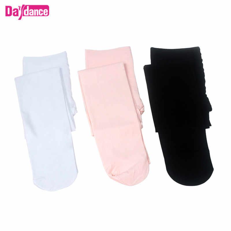 Delle Donne Delle ragazze Footed Balletto Calzamaglie In Microfibra di Velluto Bianco Nero Rosa Balletto di Danza Calze e Autoreggenti Collant Con Tassello