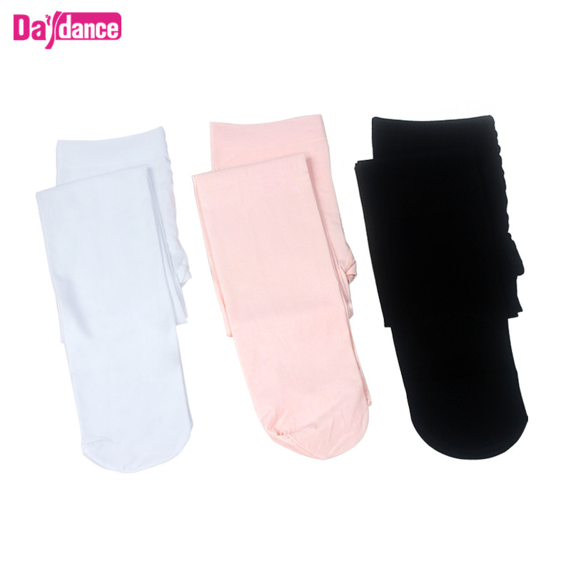 Novelty & Special Use ... Stage & Dance Wear ... 32666872343 ... 3 ... Girls Women Footed Ballet Tights Microfiber Velvet White Black Pink Ballet Dance Stockings Pantyhose With Gusset ...