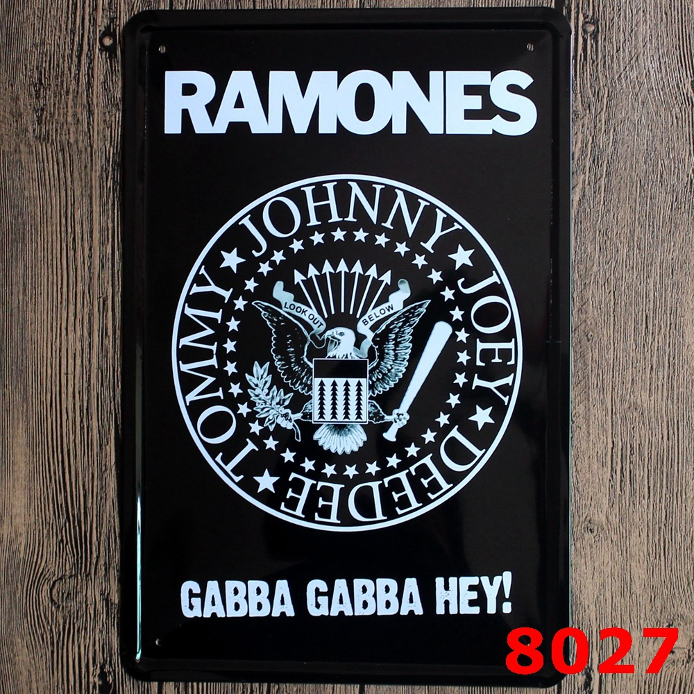 30X20CM Ramones Vintage Home Decor Tin Sign Wall Decor Metal Sign Vintage Art Poster Retro PlaquePlate