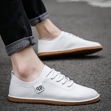 Classic Spring/Autumn 2019 Men Casual Shoes Men Loafers Fashion Sneakers Leather Breathable Slip-on Driving Shoes Brand Design 2018 men brand new fashion loafers shoes pu leather spring autumn breathable sneakers casual flats driving slip on shoes qa 15