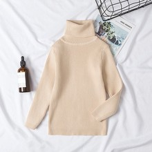 New Girls Sweaters Solid Candy Color Boys Sweaters Autumn New Knitted Baby Girls Ribbed Sweater Kids Clothing Girls