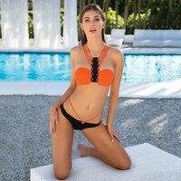 2017 Sexy Swimsuit Popular Swimwear Bikini Women Beachwear Cross Ties Summer Style Brazilian Bikinis Set Bathsuit