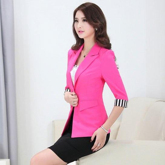 Verano estilo uniformes de oficina para mujer falda y for Trajes para oficina