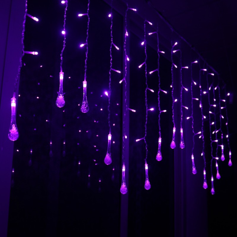 <font><b>5M</b></font> <font><b>216</b></font> <font><b>leds</b></font> <font><b>LED</b></font> Water Drop String Lights <font><b>LED</b></font> Fairy Light Wedding Christmas Party Festival Outdoor Indoor Decor. Lamps image