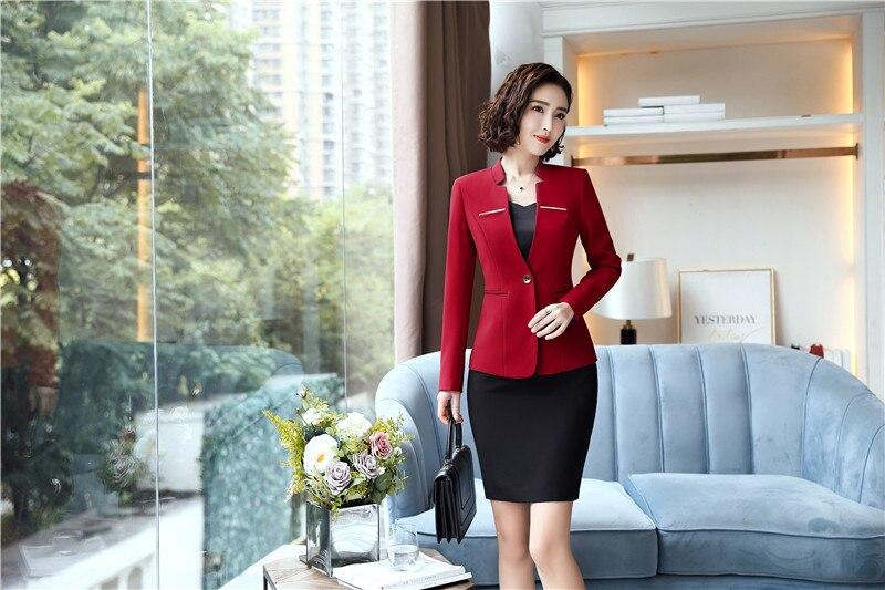 D'affaires Red Vêtements Vestes Femmes Costumes Rouge De Et Jupe Pièce Avec Travail Tops Hiver Mode Automne Uniforme Styles Ensembles Blazers 2 WIq6vZRy
