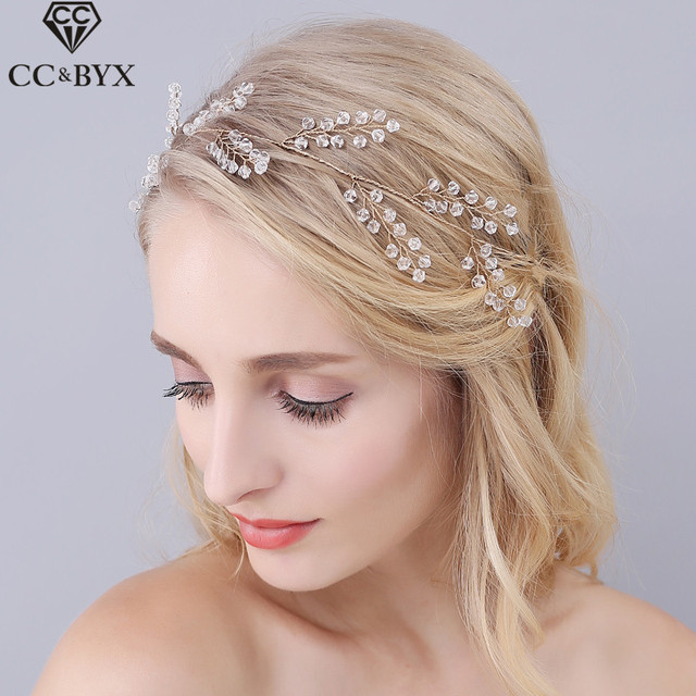 Cc Jewelry Wedding Headband Bridal Crown Hairbands Hair Accessories For Women Party Bride Headwear Fine