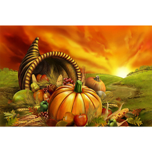 Full Square Drill 5D DIY Thanksgiving food diamond painting Cross Stitch 3D Embroidery Kits home decor H102
