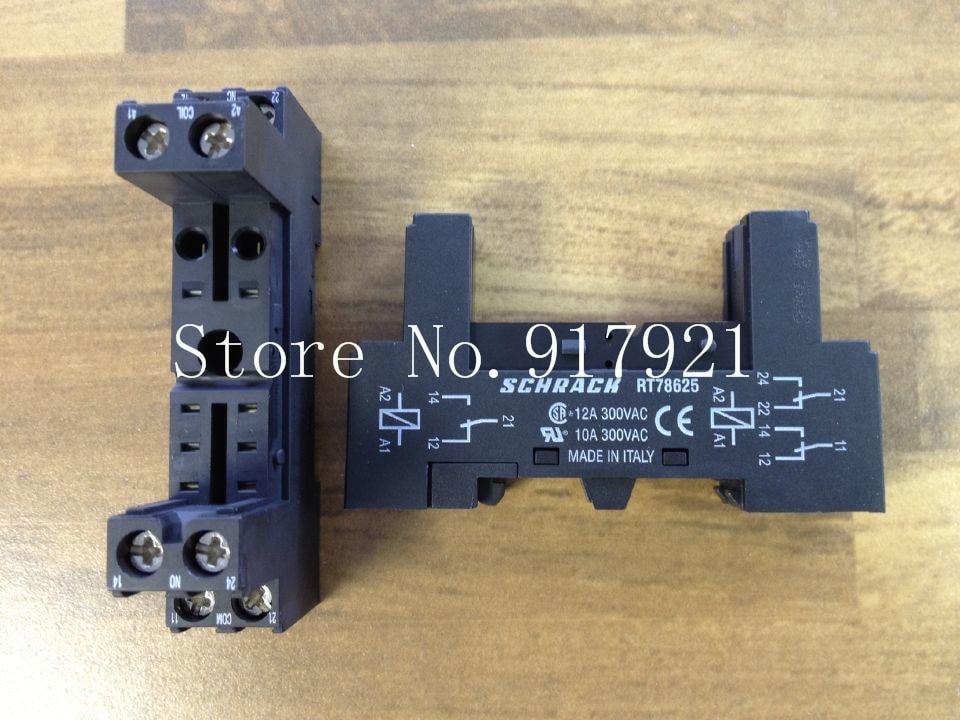 [ZOB] New original SCHRACK RT78625 Tyco relay base to ensure genuine --20pcs/lot