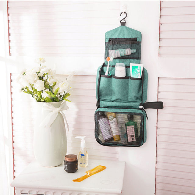 Travel Hanging Cosmetic Bag Women Makeup Organizer Beauty Washing Toiletry Kits Case Female Zipper Handbag Wholesale Accessories 3