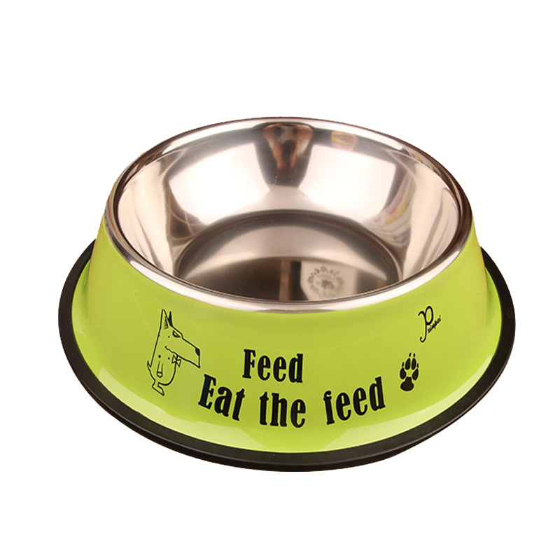 Cawayi Kennel Stainless Steel Single Pet Bowls For Dog Puppy Cats Food Water Feeder Pets Supplies Feeding Dishes Dogs Bowl D1367 #4