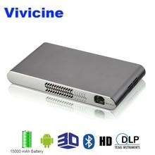 Vivicine Мини Wi-Fi 3D проектор, встроенный 15000 мАч батареи HDMI USB PC Full HD домашних видеопроекторов 1080 P Android проектор