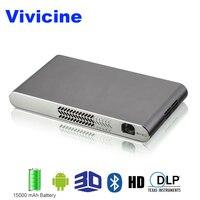 Vivicine Mini Wifi 3D проектор, встроенный аккумулятор 15000 мАч HDMI USB PC Full HD домашние видеопроекторы Android, мультимедийный проектор P 1080