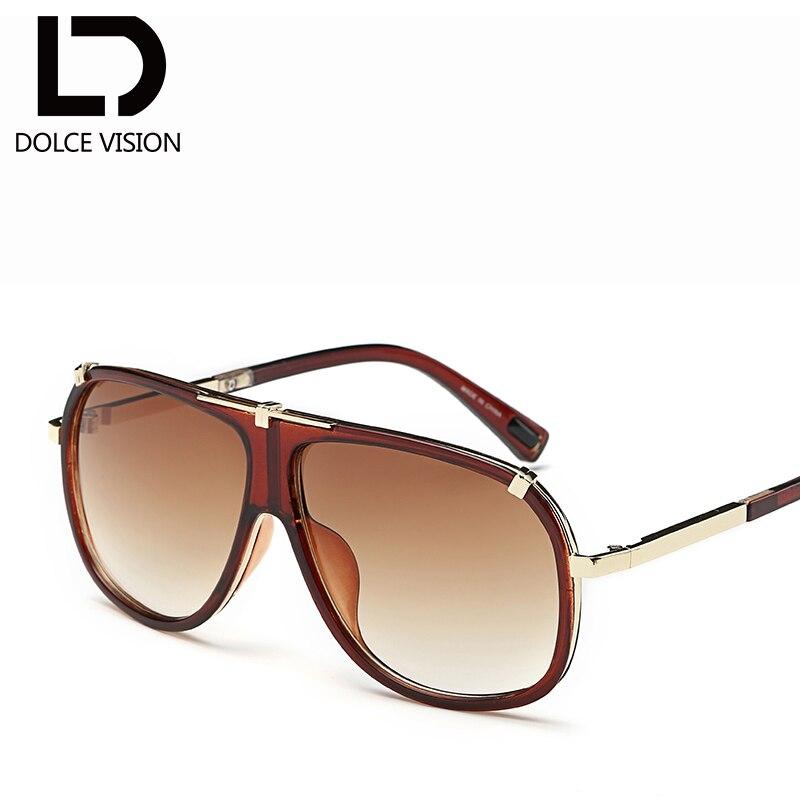 ebac8fb882 DOLCE VISION Luxury Male Pilot Sunglasses Fashion Brand Designer Ovresize  Sun Glasses For Men 2018 Black Gradient Lunette Oculos-in Sunglasses from  Apparel ...
