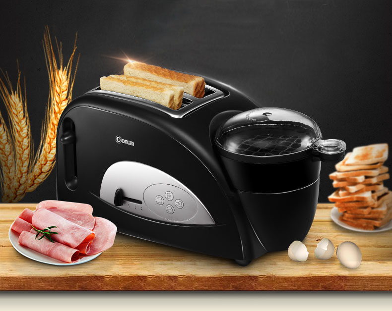 ФОТО 1pc Freeshipping DHL XB-8002 Bread baking household bread maker multi-function Full-automatic breakfast Toaster with boil eggs