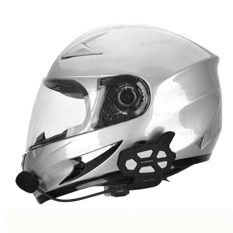 2018  Intercom Bluetooth Motorcycle Communicator Helmet Headset  Interphone For 6 Riders Motorcycle Intercom Motorcycle Moto
