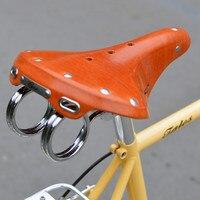 Q1098 100% седло велосипеда из воловьей кожи Винтаж велосипед коровьей седло натуральная кожа подушки Старый Круг седло подушки