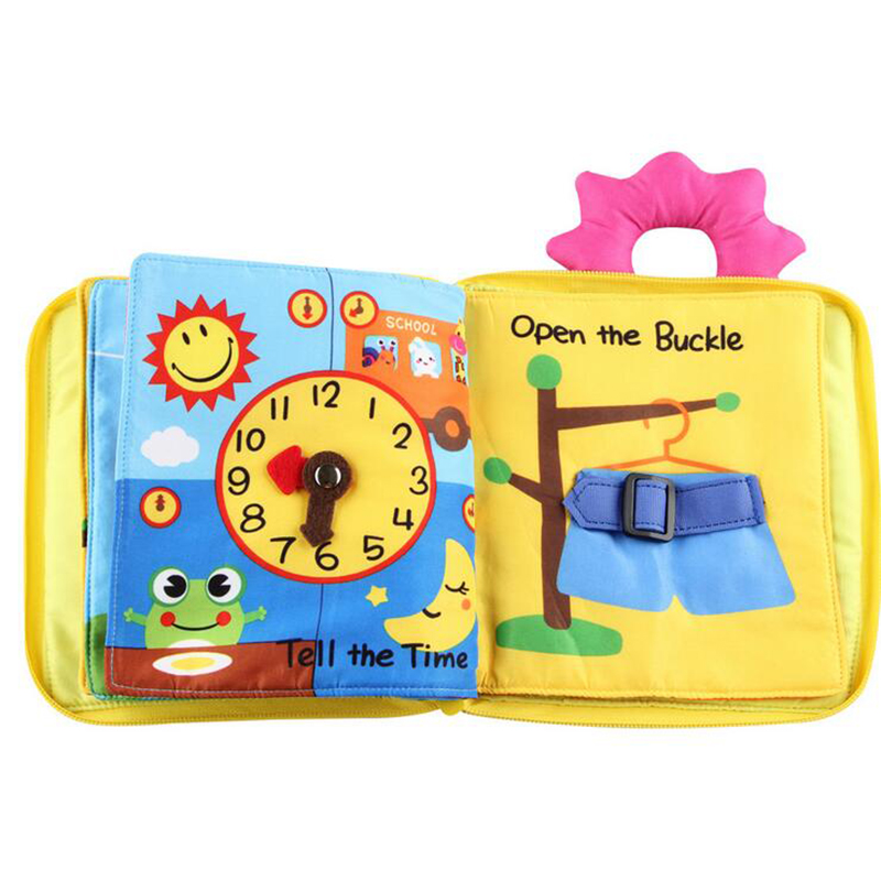 Colorful Soft Cloth Baby Book Early Learning Educational Cloth Book for Baby Gift Toys 12-36 48 Months Baby Toy