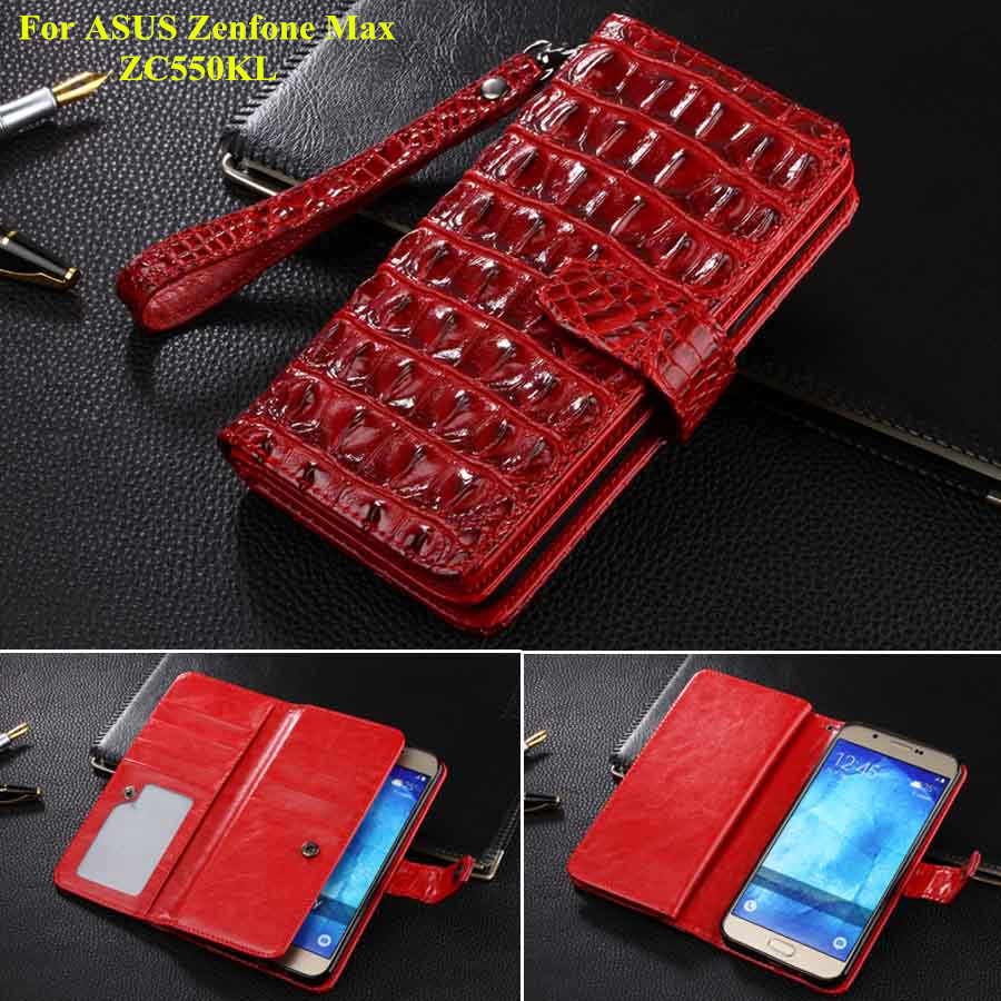 Luxury Book Style Wallet Leather Case For ASUS Zenfone Max ZC550KL Phone Cases Card Holder Cover For Zenfone Max Fund