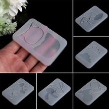 1pcs Hourglass Water Injection Mud Board Silicone Mold DIY Resin Jewelry Pendant Making