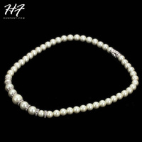 Top Quality N450 Imitation Pearl Wedding Jewellery Sliver Color Necklace Pendant Made with Austria Crystal Wholesale