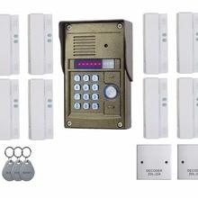 Легкая установка аудио дверь домофон для 8 квартиры, ТМ oudoor панели, удостоверение личности и пароль разблокировки Zhudele 327r Системы