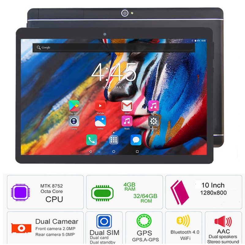 2019 nueva tableta Android 8,0 OS 10 pulgadas ordenador Octa Core 4GB RAM 64GB ROM 8 núcleos 1280*800 tabletas de pantalla IPS 10,1 regalos