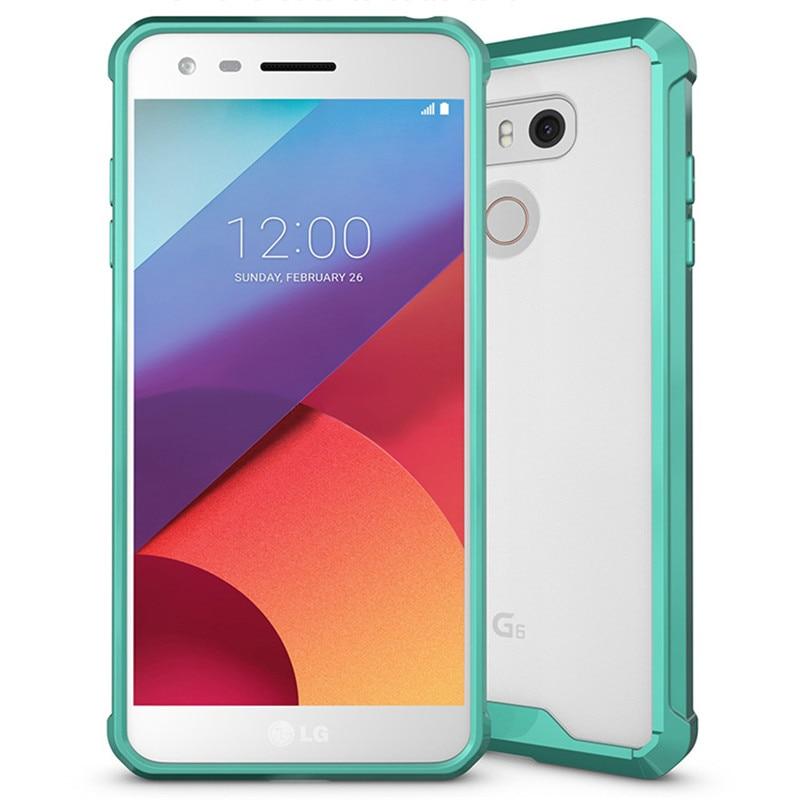 E համար LG G6 Case Crystal Hybrid Bumper Clear TPU PC - Բջջային հեռախոսի պարագաներ և պահեստամասեր - Լուսանկար 4