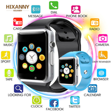 TOP Smart Watch Smartwatch Bluetooth Wrist Sport SIM TF Phone Camera WristWatch For Apple iPhone Android Samsung Men Wach