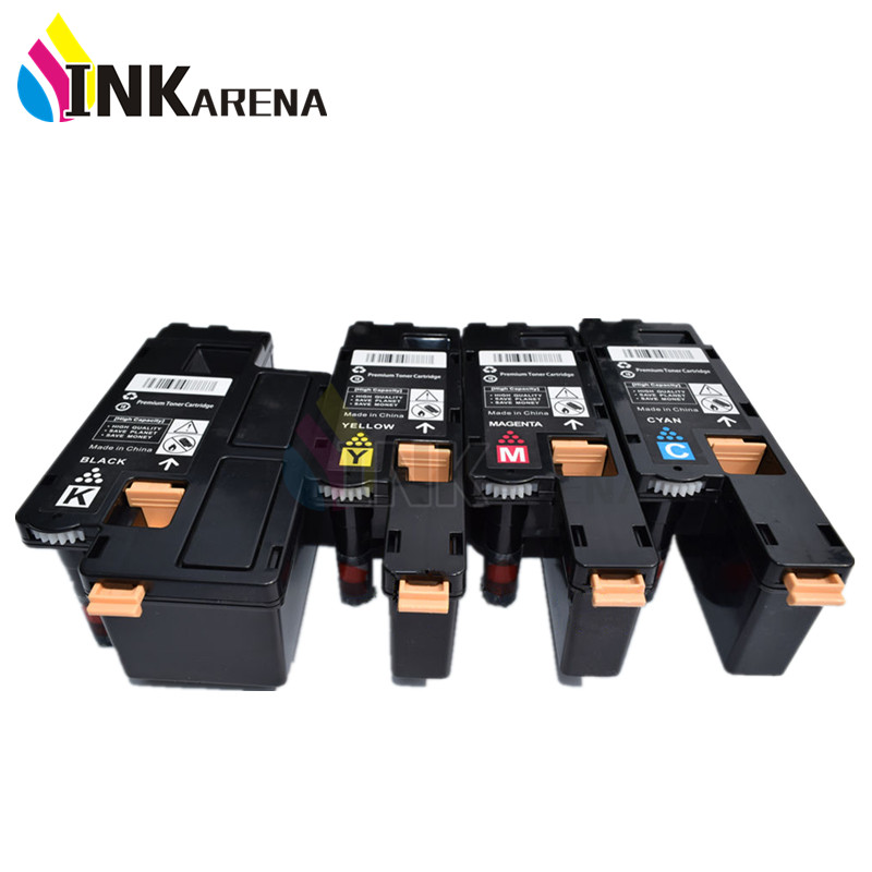 4 PCS Color Toner Cartridges Compatible for Xerox Phaser 6000 6010 WorkCentre 6015 Printer Cartridge Full