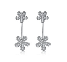 2015 New arrival hot sell flower design 925 sterling silver ladies`stud earrings jewelry promotion gift