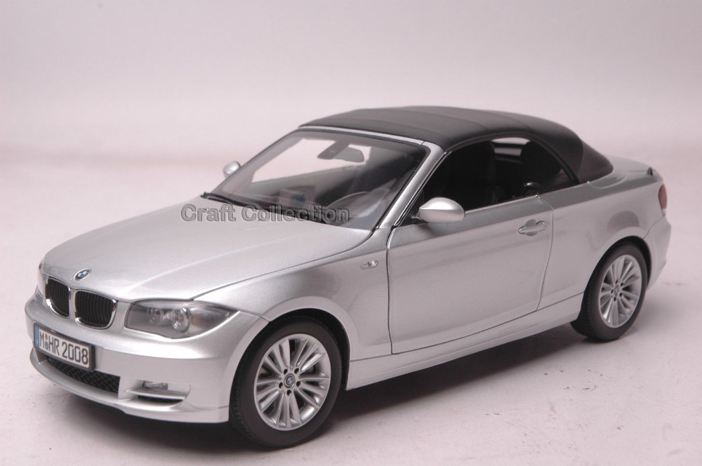 * Silver 1/18 Car Model for 120 Cabrio Convertible Sport Car 1 Series Modell Auto Hot Selling Alloy Brinquedos 1 18 otto renault espace ph 1 2000 1 car model reynolds