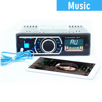 In-Dash Car Mp3 Player with Remote control Autoradio Auto Radio Car Radio 1 Din Support Fm Transmitter USB / SD image