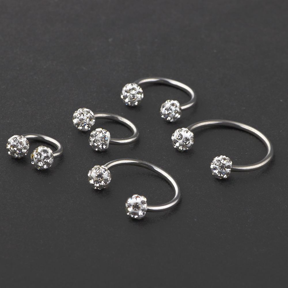 CHOSE BAR LENGTH /& THICKNESS,10 X SURGICAL STEEL LIP//TRAGUS BARS,6,8,10,12,14MM