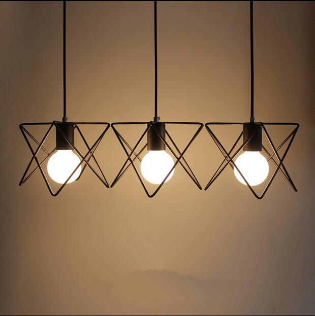 vintage retro pendant lamp metal m cage lampshade lighting hanging light