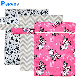 Nappy-Bags Pocket Travel Mini-Size Waterproof Reusable Printed PUL 25x20cm Wet