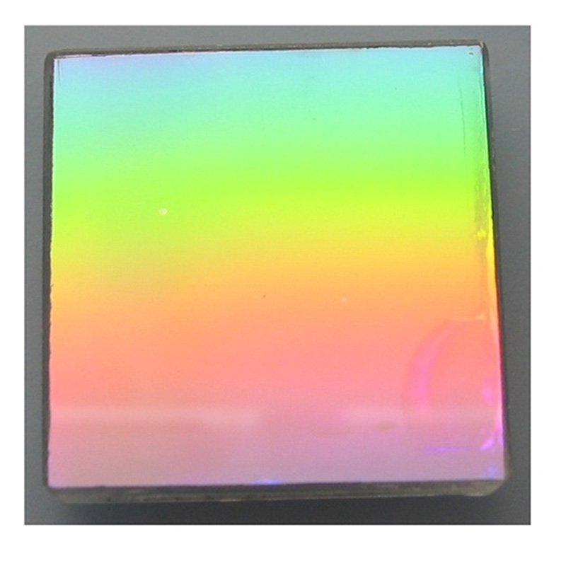 1PC 25x25mm 1200 Lines K9 Optical Glass Flat Diffraction Grating Teaching spectral decomposition Precision component Detect