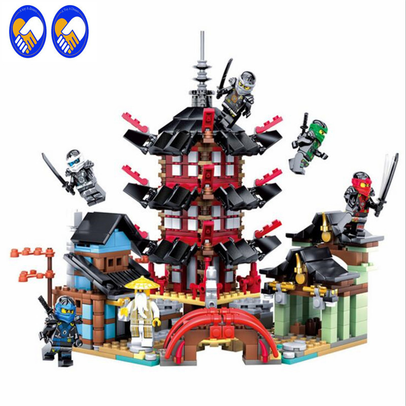 A Toy A Dream 76084 Ninja Temple of Airjitzu Ninjagoes Smaller Version Bozhi 800pcs Blocks Set With 06022 Toys for Kids Building lepin ninja temple of airjitzu smaller version bozhi 737 pcs blocks set compatible with lepin toys for children building bricks