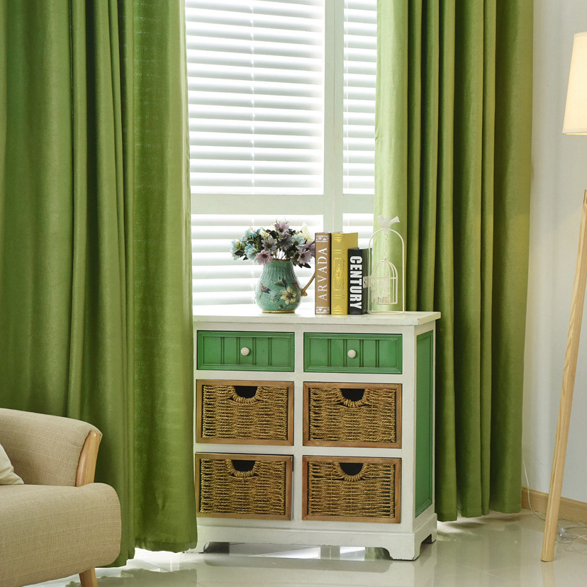 Plain dyed blackout curtain kitchen door window curtains for ...