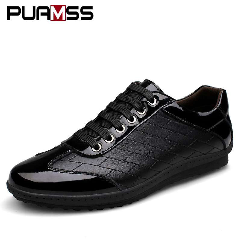 2017 New Brand Men Casual Shoes Genuine Leather Men Shoes Lace-up Breathable Soft Autumn Casual Flats Formal Shoes Plus Size 45 ninyoo soft fashion men casual shoes genuine leather flats shoes black high quality breathable students shoes plus size 46 47 48
