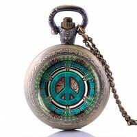 Steampunk Hippie Pendant Pocket Watch Vintage Peace Sign Men S Jewelry Gift